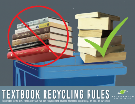 Textbook Bonfire? NO! You can Recycle them!