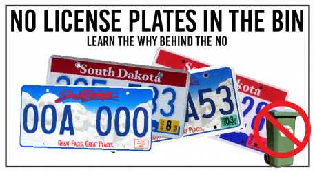 License Plates Can't Go in the Bin