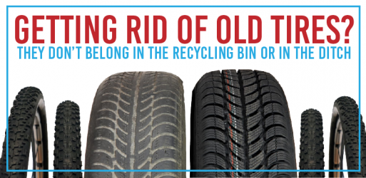 Recycling Old Tires (Not in your bin...)