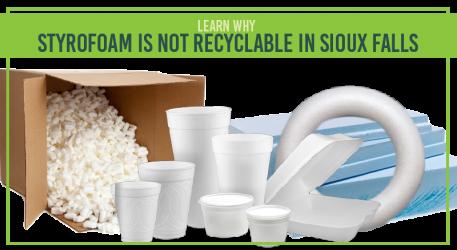 Styrofoam is ALWAYS a No.