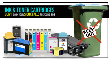 Ink  and Toner Cartridges= Not in the bin!