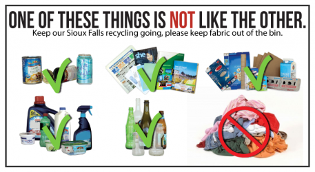 Bed Sheets, Clothing, Fabric are NOT recyclable